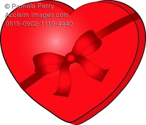 Heart-shaped clipart chocolate box #4