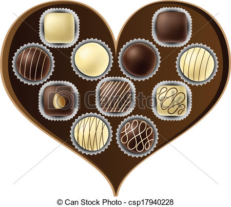 Heart-shaped clipart chocolate box #10