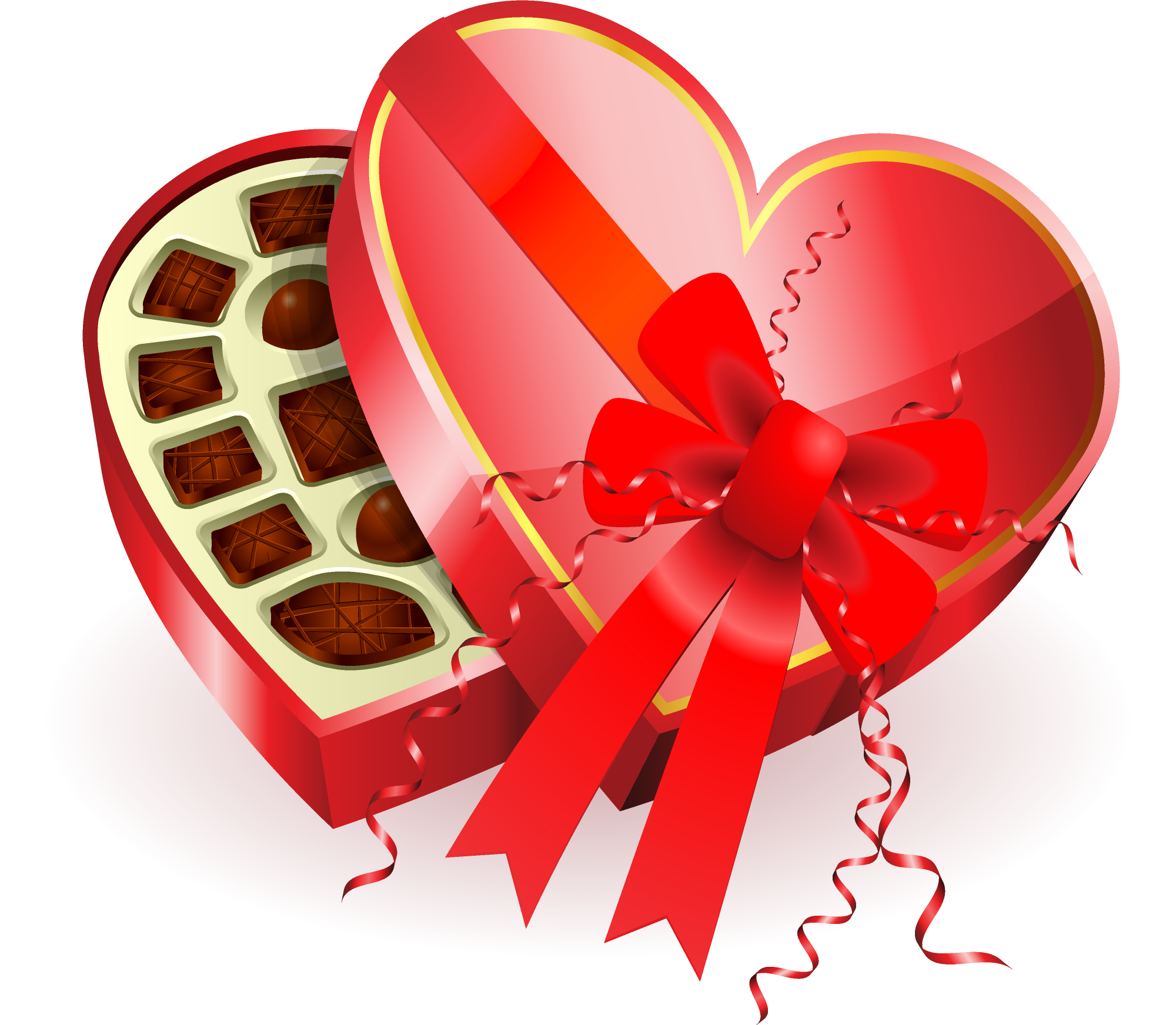 Heart-shaped clipart chocolate box #8