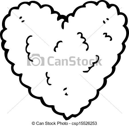 Heart-shaped clipart cloud EPS cartoon heart shaped Vector
