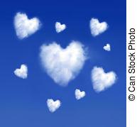 Heart-shaped clipart cloud Illustrations Heartshaped 892  Art
