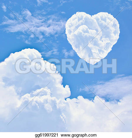 Heart-shaped clipart cloud Clipart gg61997221 on Heart cloud