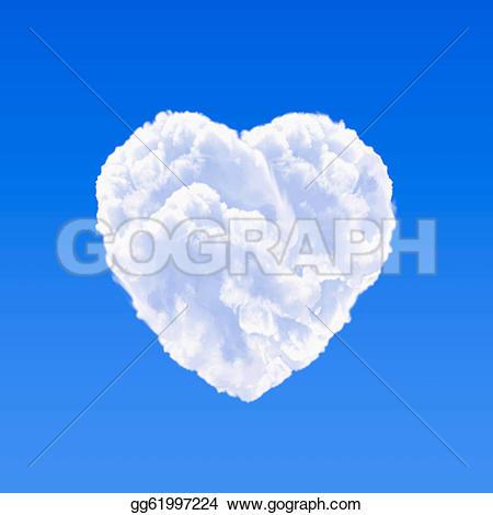Heart-shaped clipart cloud Clipart gg61997224 on Heart cloud