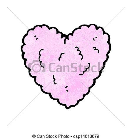 Heart-shaped clipart cloud Cartoon heart  heart cloud