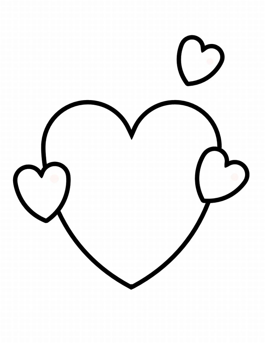 Heart-shaped clipart coloring Shapes Free Coloring Kids Coloring