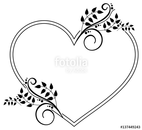 Heart-shaped clipart coloring 137449407 free with files with