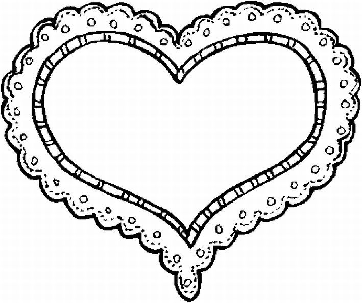 Heart-shaped clipart coloring Valentine Pinterest on Coloring Valentines