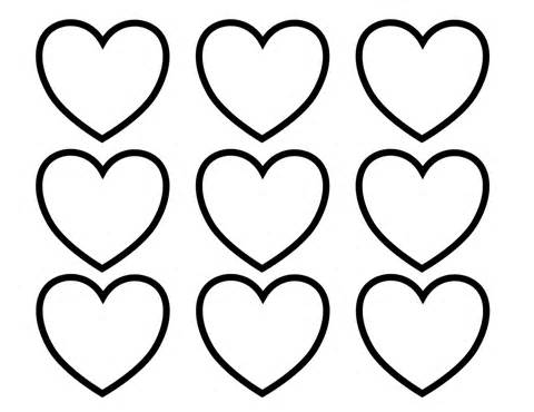 Heart-shaped clipart coloring Coloring Heart Coloring Pages Pages