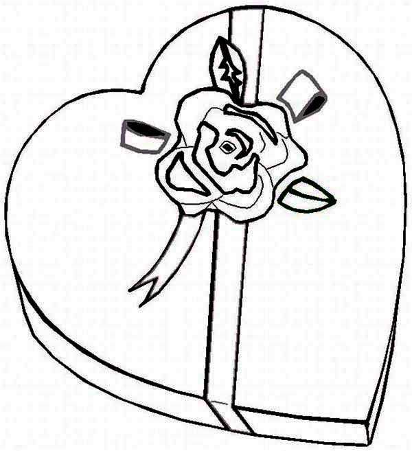 Heart-shaped clipart coloring Page Day  Coloring Day