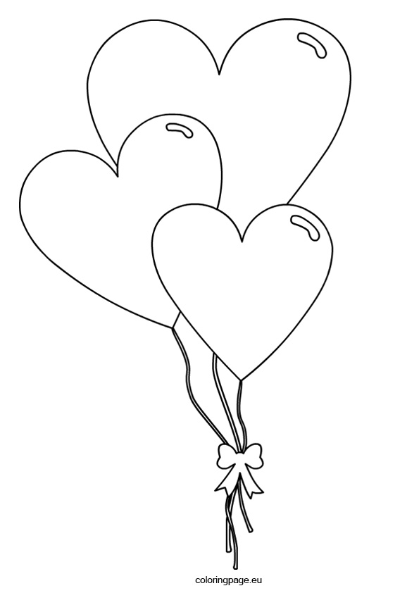Heart-shaped clipart coloring Coloring Shaped Day Page Heart