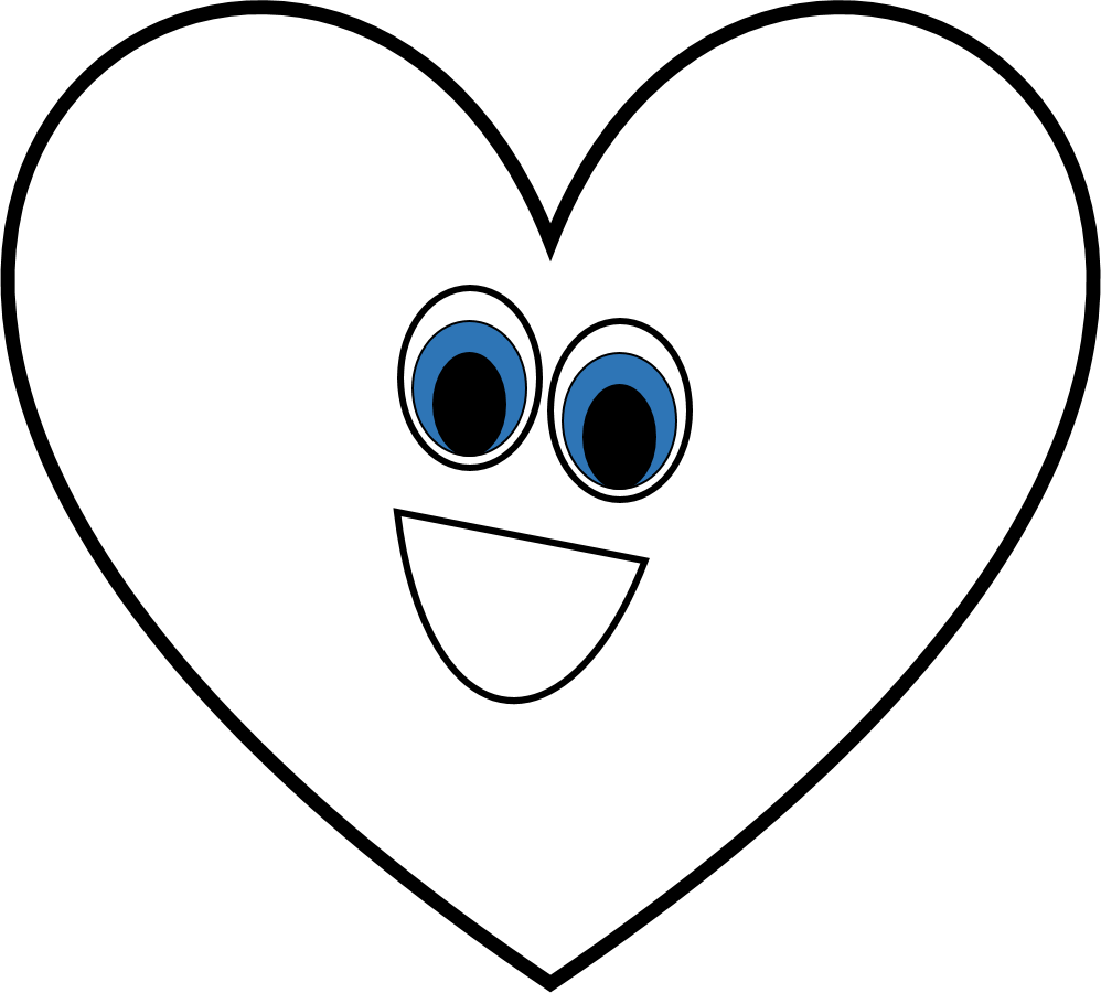 Heart-shaped clipart cool heart Black white clipart  black