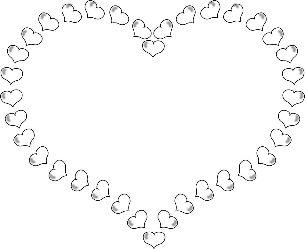 Heart-shaped clipart cool heart Pages  Border Little Shaped