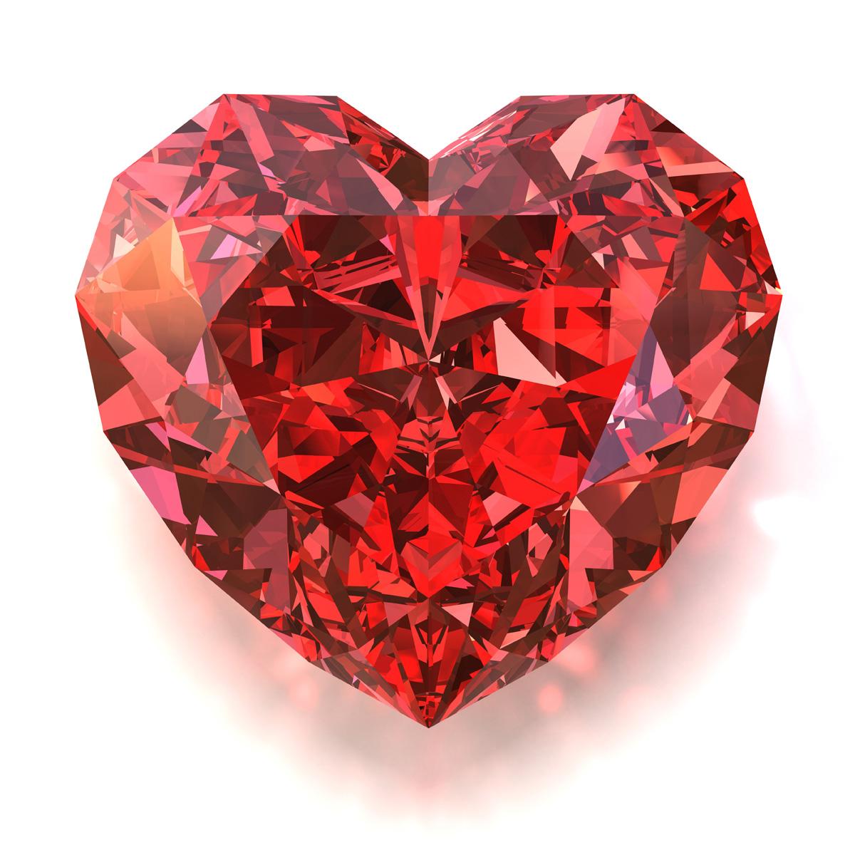 Heart-shaped clipart diamond shape Heart diamond No ruby tattoo
