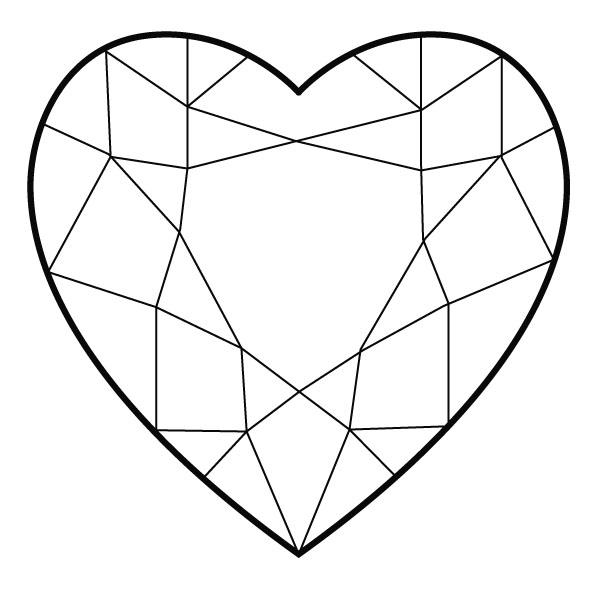 Heart-shaped clipart diamond shape Heart Hearts for Diamond of