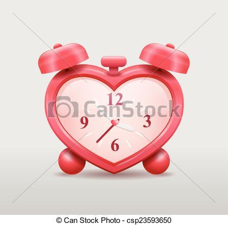 Heart-shaped clipart different shape Clock heart csp23593650 shaped Clipart