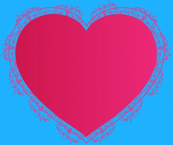 Heart-shaped clipart different shape #3