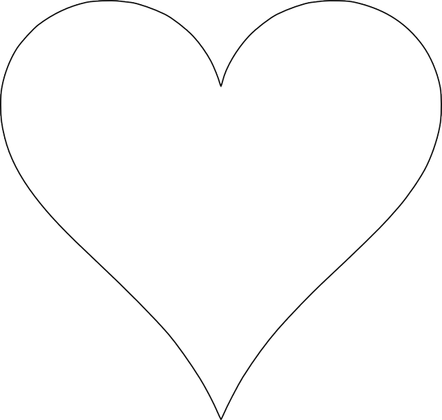 Heart-shaped clipart different shape #5