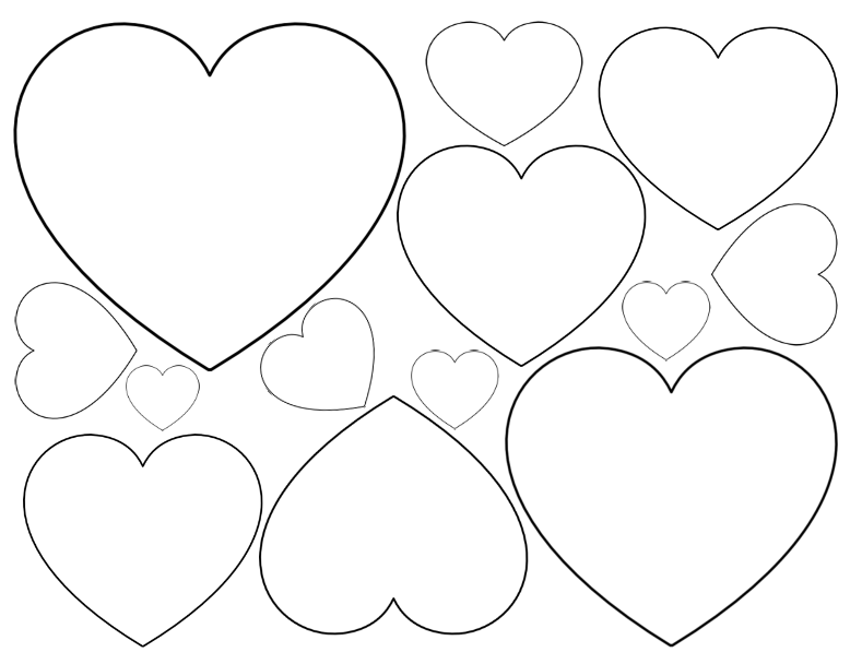 Heart-shaped clipart different shape #7