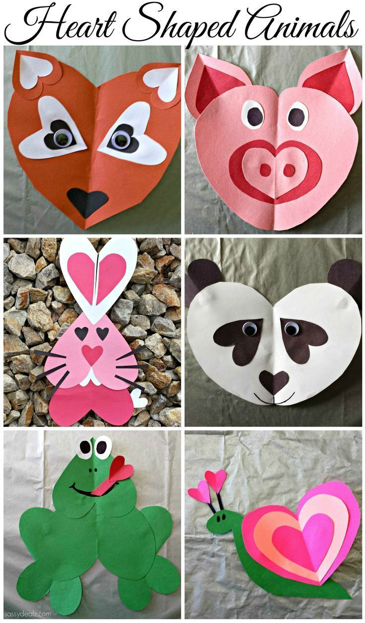 Heart-shaped clipart different shape For #Heart Animal Crafts Kids