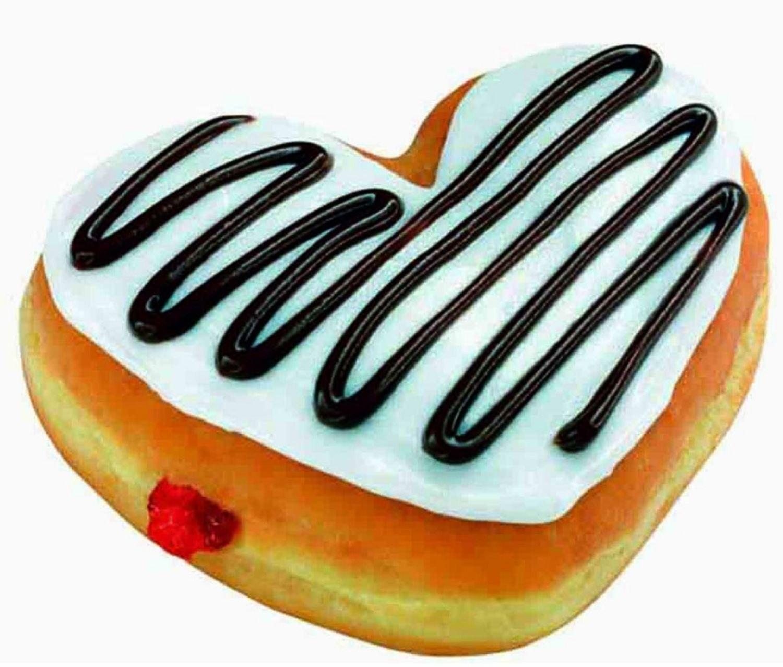 Heart-shaped clipart donut #7