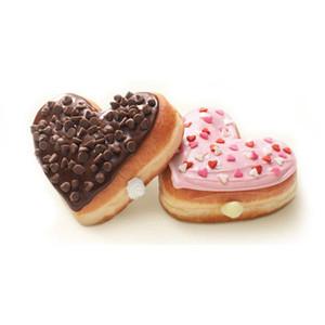 Heart-shaped clipart donut #5