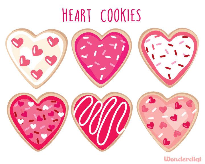 Heart-shaped clipart donut #4
