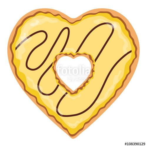 Heart-shaped clipart donut #2