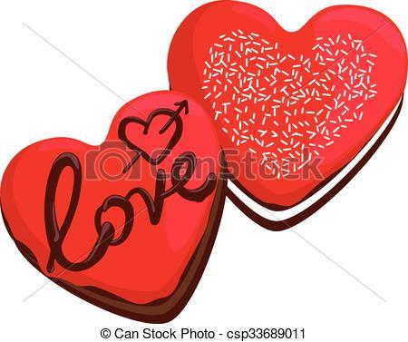 Heart-shaped clipart donut #3
