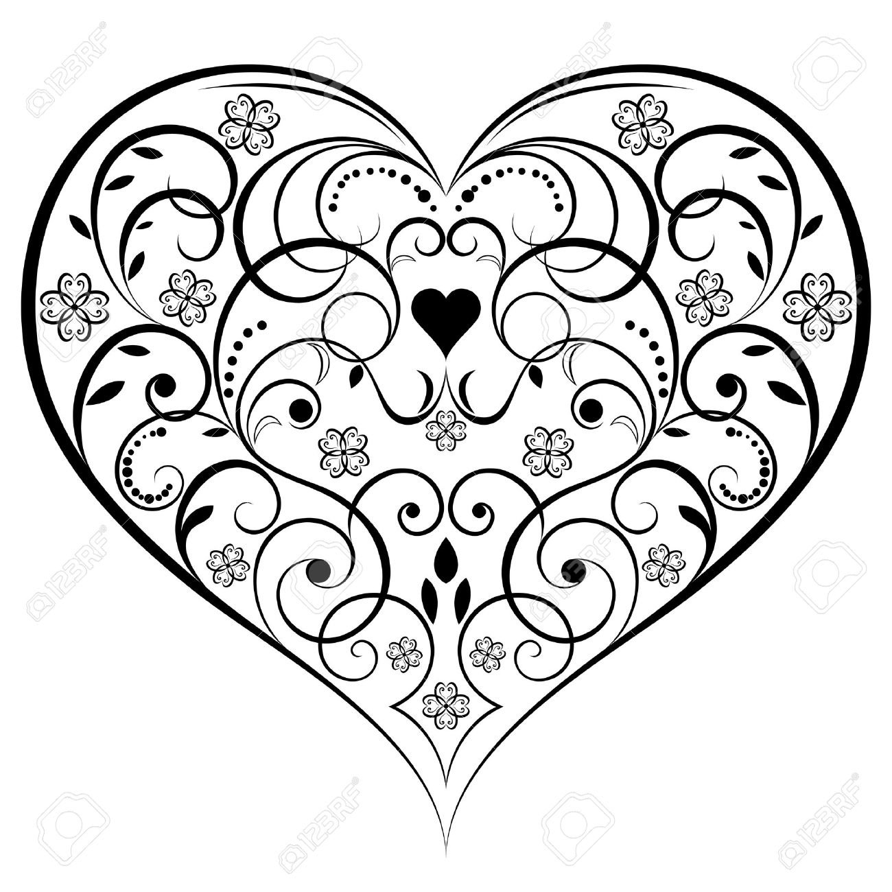 Heart-shaped clipart drawn Images ) Find Royalty Heart