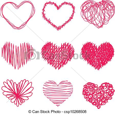 Heart-shaped clipart drawn Drawn Hand Hand Vector