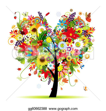 Heart-shaped clipart drawn Your art tree heart Clipart