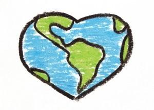Heart-shaped clipart earth Panda Earth Images Free Heart