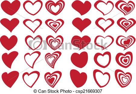 Heart-shaped clipart fancy #1