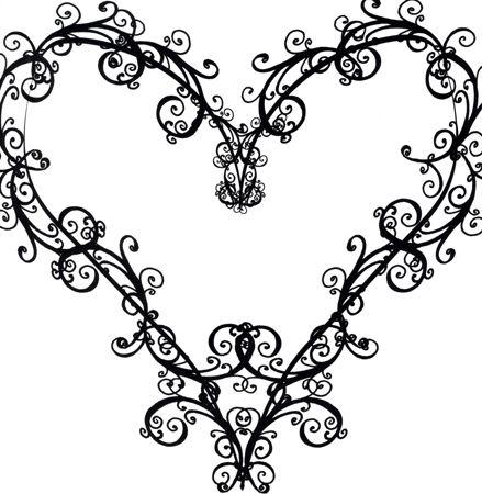 Heart-shaped clipart fancy #11
