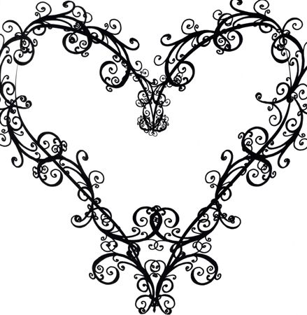 Heart-shaped clipart fancy Tattoos Clipart on Art Pinterest