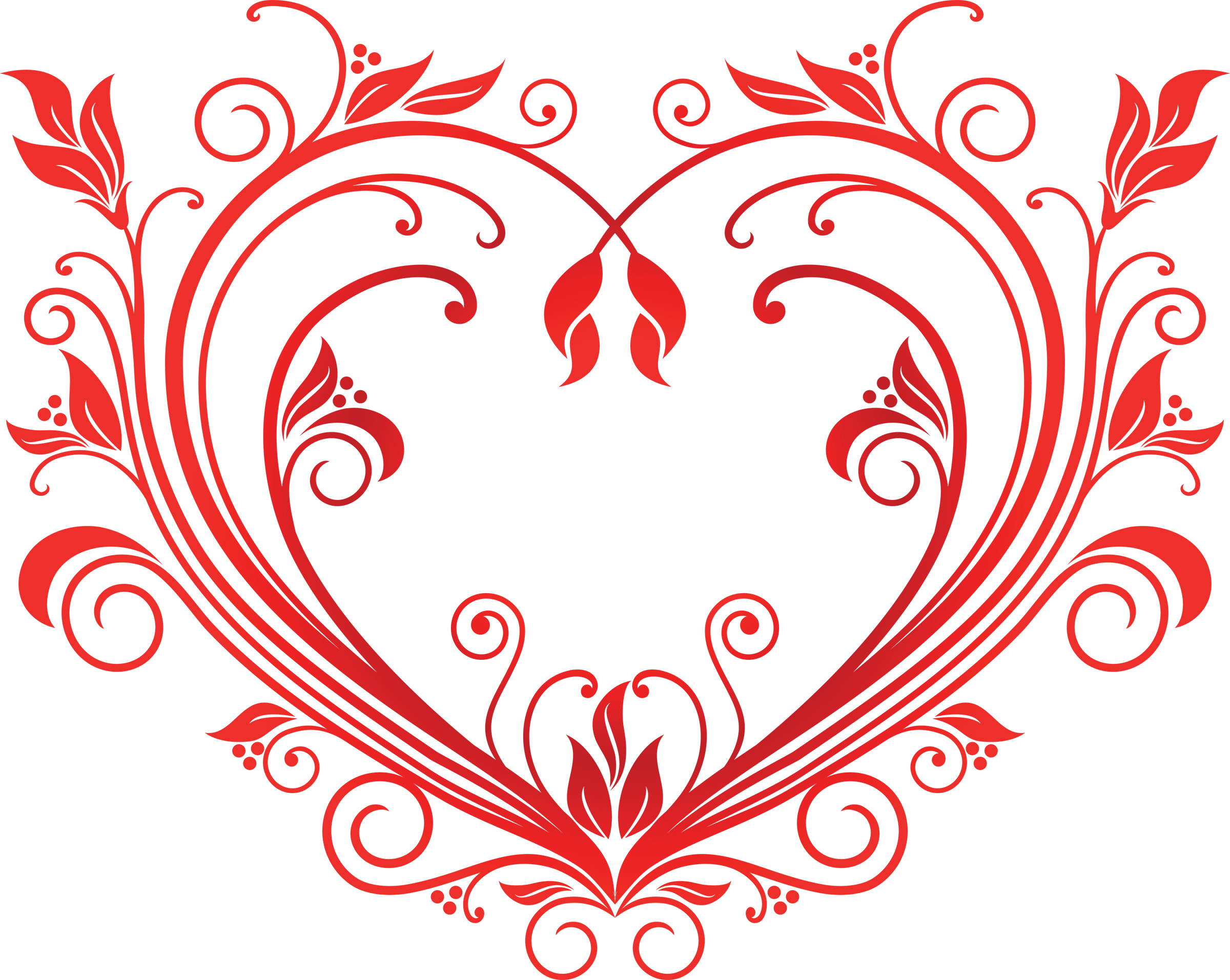 Card clipart red heart  with Border Red pixabella