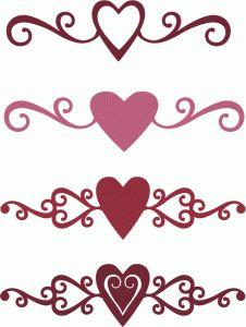 Heart-shaped clipart fancy #15