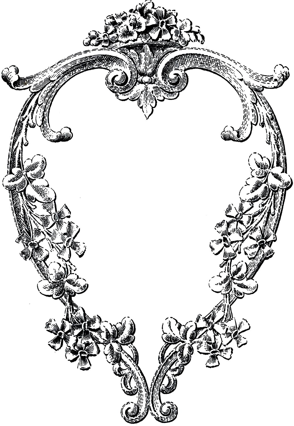 Heart-shaped clipart fancy #12