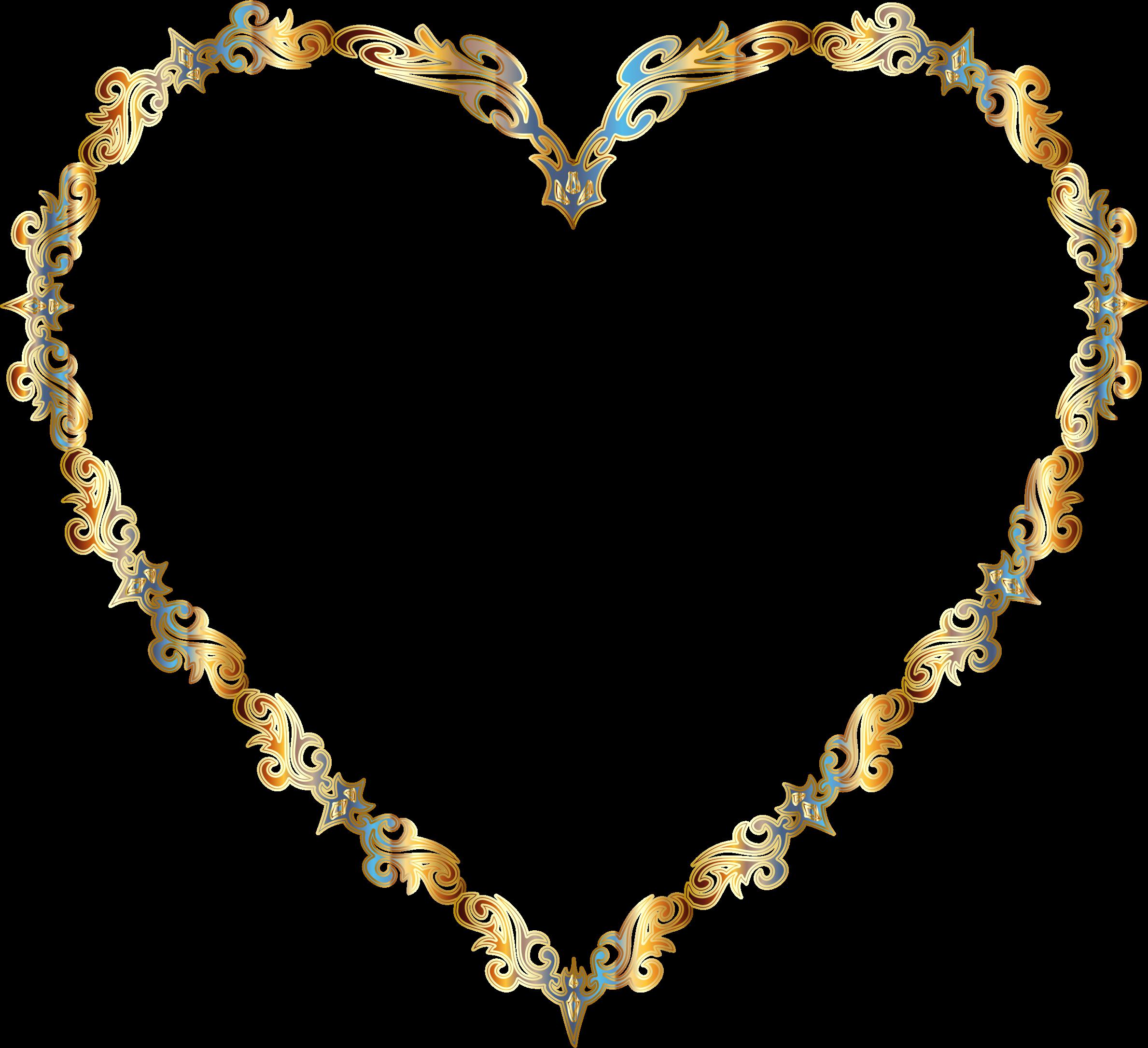Heart-shaped clipart fancy Decorative Line Clipart Art Colorful