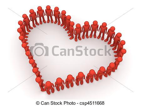 Heart-shaped clipart fancy #4