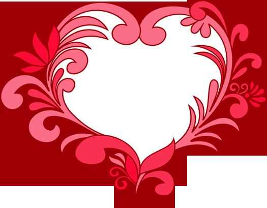 Heart-shaped clipart fancy #2