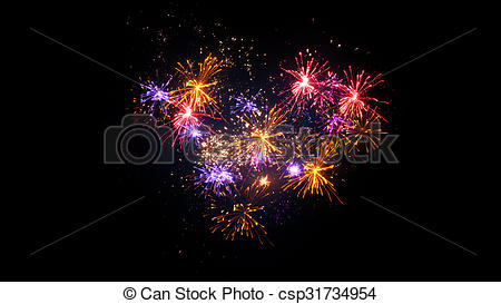 Heart-shaped clipart firework Display Computer display shape Illustrations