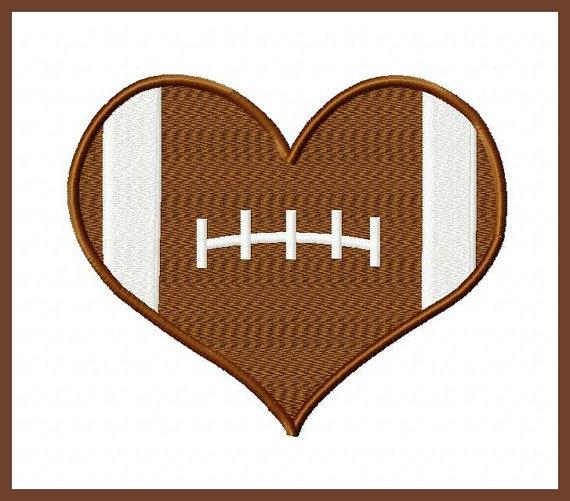 Heart-shaped clipart football Football Clipart Zone Football Cliparts