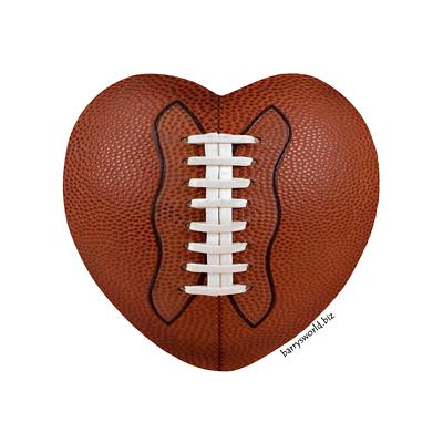 Heart-shaped clipart football Shaped clipart Football Clipart Heart