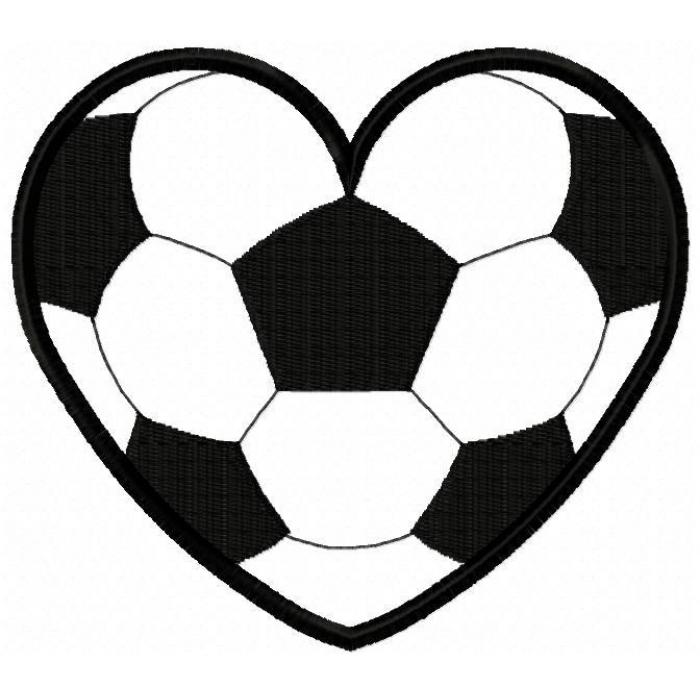 Heart-shaped clipart football Soccer 189 heart