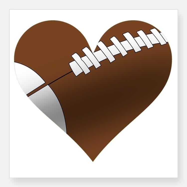 Heart-shaped clipart football Heart Football Zone Football Cliparts