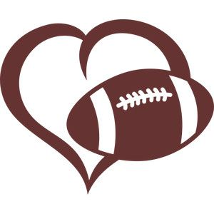 Heart-shaped clipart football Silhouette Store ideas Designs 10+