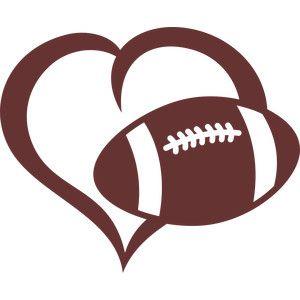 Heart-shaped clipart football Design Pinterest New on 10+