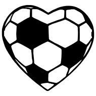 Heart-shaped clipart football Shaped all sports 4 Hearts