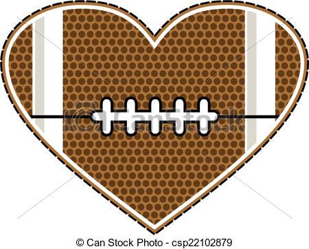 Heart-shaped clipart football  football 002 design Football